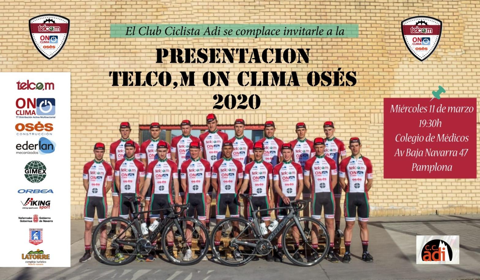 Cartel Presentación Telco,m On Clima Osés 2020