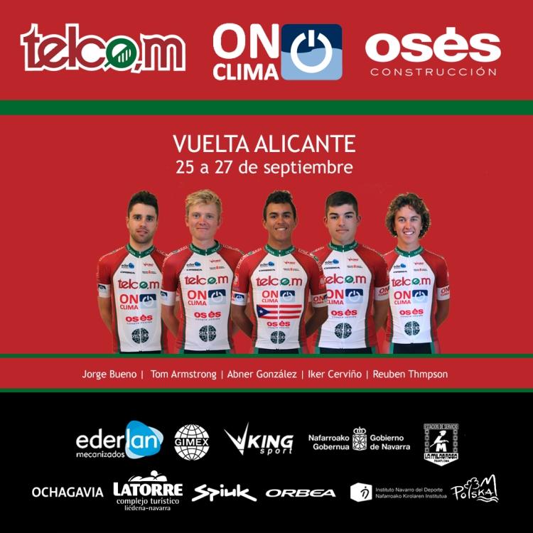 Vuelta Alicante alineación Telcom
